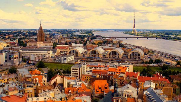фото города рига